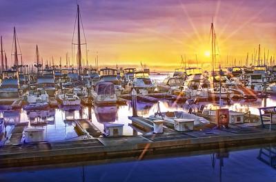 Sunset at Marina Village