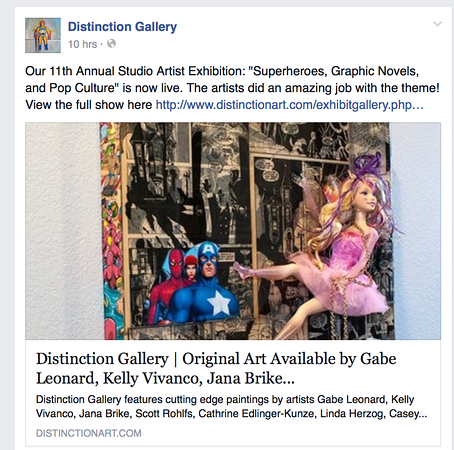 """SuperHeroes, Graphic Novels and Pop Culture"" at Distinction Gallery."