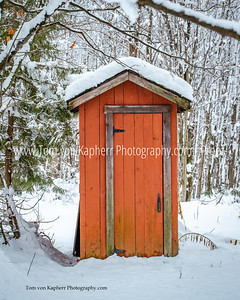 Outhouse in winter