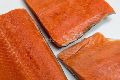 Close up salmon fillet.