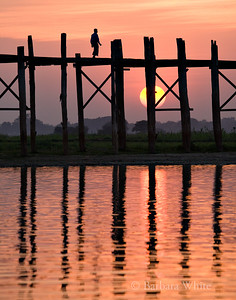 U Bein's Bridge At Sundown