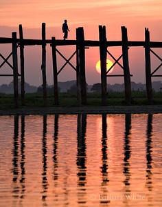 U Bein's Bridge At Sundown