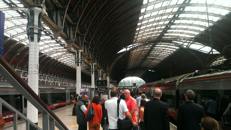 Arrived in London via Paddington Station from Heathrow airport.