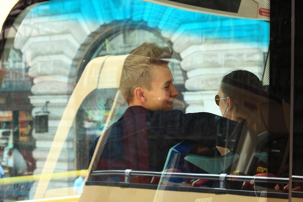 Views from the tour bus around London.