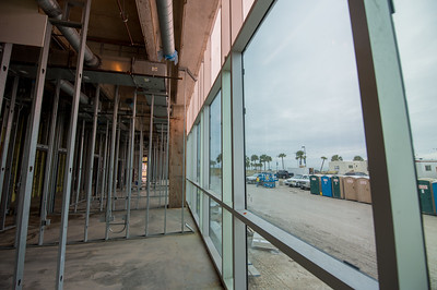 A view outside from the first floor of Tidal Hall.