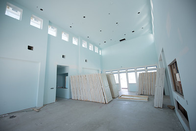 Interior shot of the Community Center during the Momentum Campus Phase II construction.