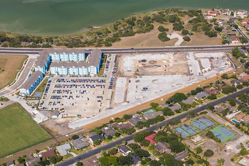Aerial of the Momentum Village phase 2 construction site.