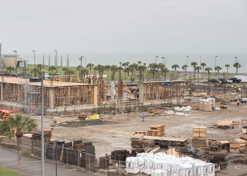 Construction continues on the Tidal Hall site as they frame the first floor.