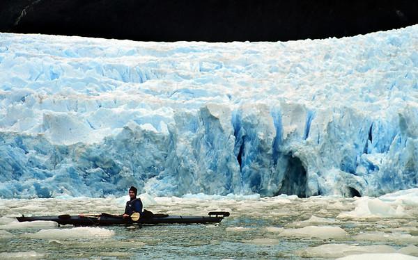 Glaciar Patos, Magallanes. Expedición Seakayak 2000