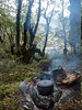 Dinner on the open fire beside the tarns in the Upper Florence Valley.