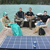 "Got to ride around on a solar powered ""party barge"" in Whistler!"