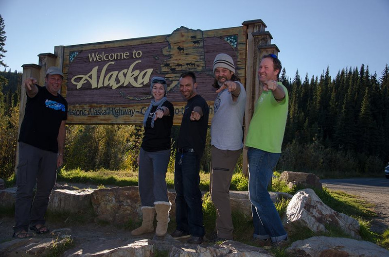 And we made it to Alaska - the Expedition Electric crew - JC, Me, Szasz , Greg, Mark