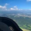 Alzate Brianza airport just ahead, then the pre-Alps