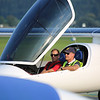 Bertrand Piccard goes for a flight