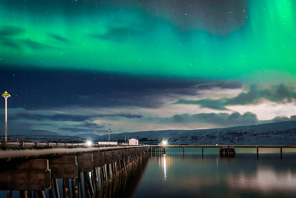 Northern Lights Over Eastern Region, Iceland 2015