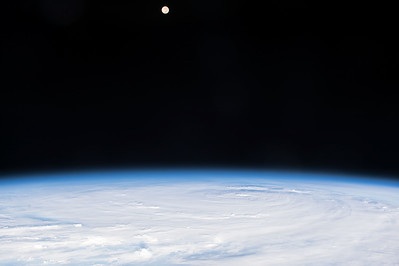 Jimena in the Pacific is a massive storm. Makes the moon look puny. #YearInSpace