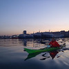 Paddling out of Piraeus harbour at first light