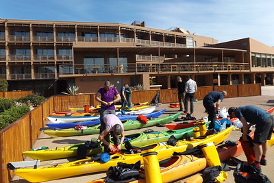 The kayak yard at the Aegeon Hotel, Cape Sounion