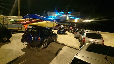 About to board the ferry at Igoumenitsa