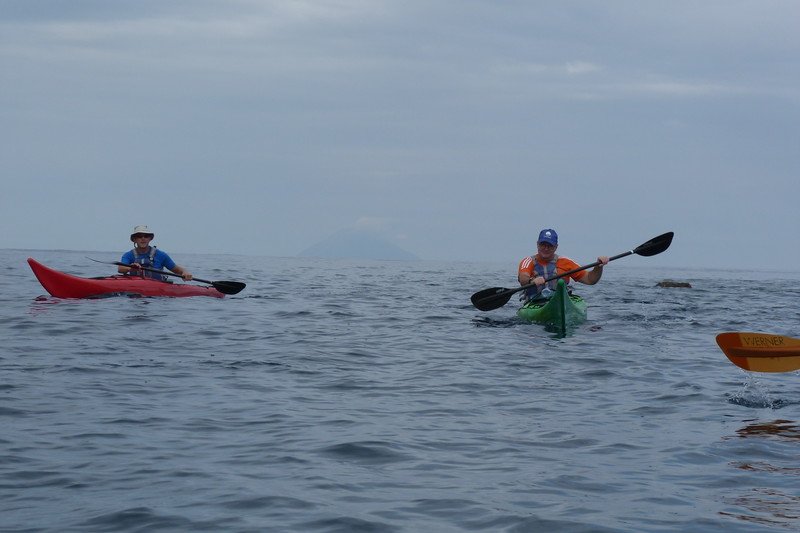 Stromboli Island in the distance, from Cape Milazzo