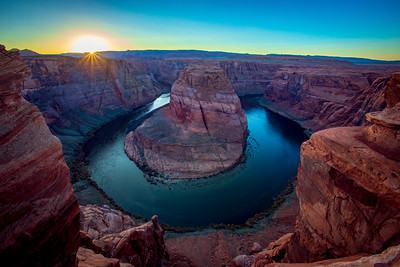 Sunset at Horseshoe Bend  5 exposure HDR