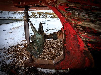 Stern of old boat in Stykkmisholmur