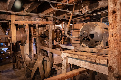 Water powered belts, motors to control orders at Thompson's Mill