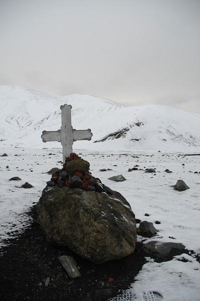 Deception Island grave 2