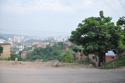 Another shot of Qijiang from the road to the farmer's house.