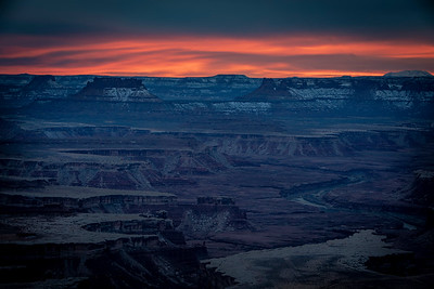 Sunrise at Green Mountain Overlook, Canyonlands NP