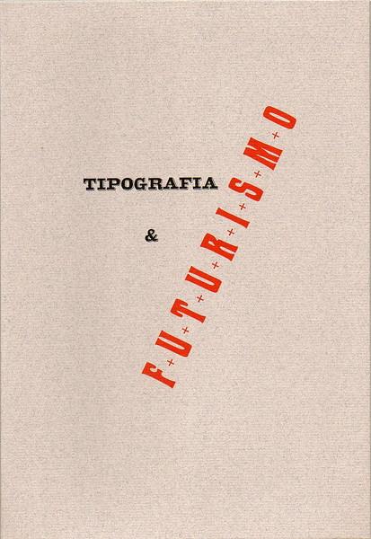 Folder letterpress-printed in two colors, which houses the Manifesto del Futurismo, Tallone Press, 2009.