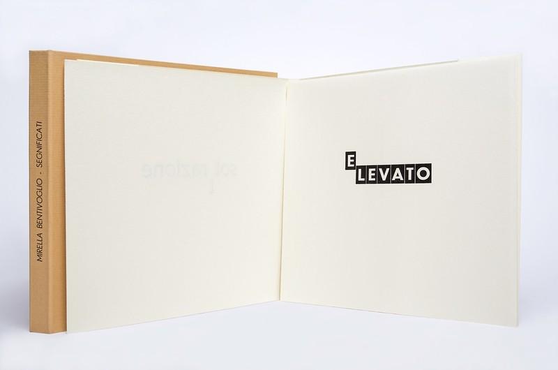 Mirella Bentivoglio, Segnificati, Tallone Press, 2004.