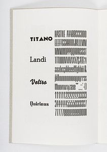 """""""A Specimen of Italian Rationalist types 1930s & 1940s"""", by Enrico Tallone for Matrix 26 (2006) – A review of printers and bibliophiles."""