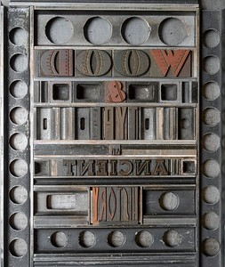 Insert letterpress printed for Matrix – A review for printers and bibliophiles, no. 35, 2018. Typeset by hand in wood types.