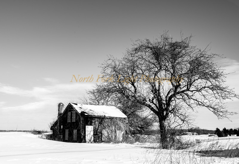 Abandoned Farmhouse-Winter Snow