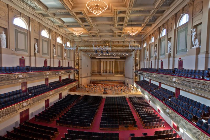 Boston Symphony Orchestra Hall.