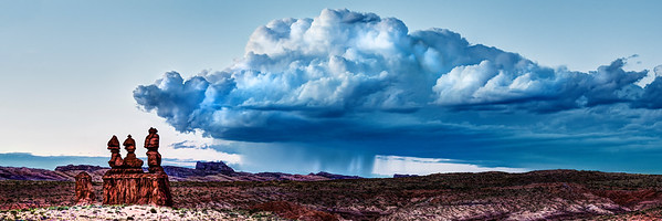 Blue Storm Over Temple Mountain