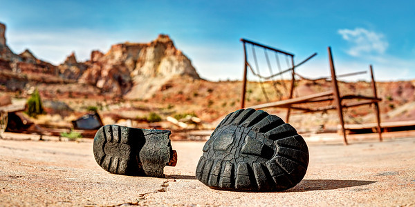Broken Boot at Temple Mountain