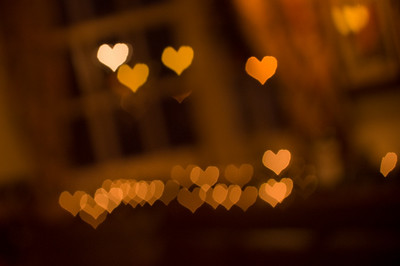 Heart Bokeh  Just the Christmas lights in the background.  Things are deliberately unfocused so I could get a good bokeh