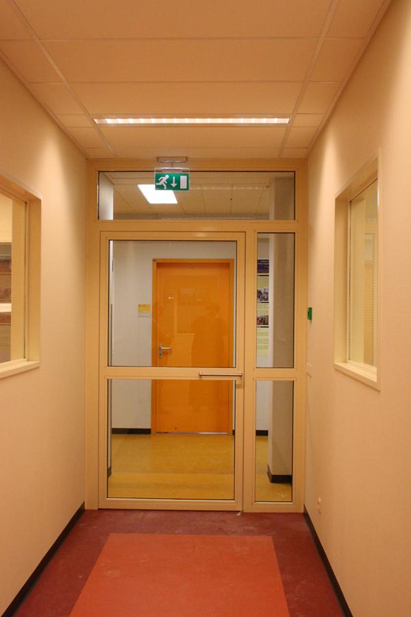 de officiele ingang naar de afdeling