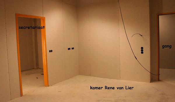23 november 2005 Een deur vanuit de kamer van de professor naar het secretariaat.