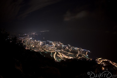 All Monaco by Night  taken from Tête de Chien   see: http://fr.wikipedia.org/wiki/Tête_de_Chien