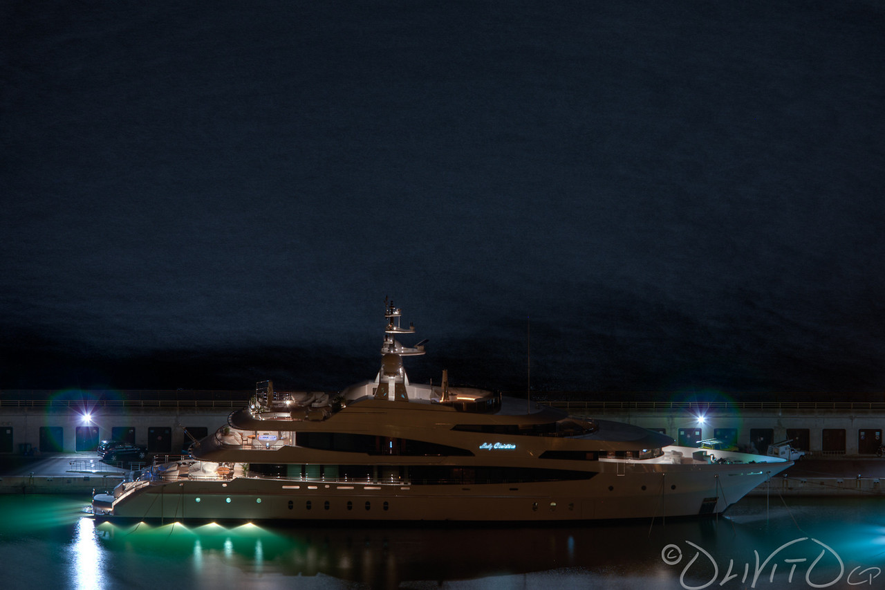 Lady Christina in the port of cap d'ail