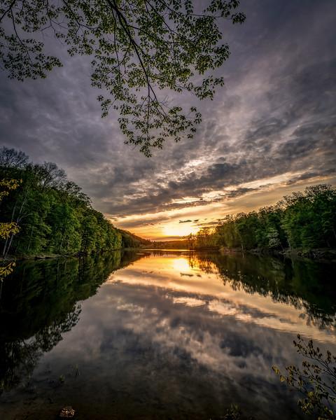 Sunset on Ogle Lake