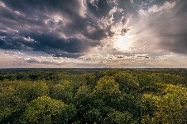 Lookout Tower at Hicory Ridge in the Hoosier National Forrest. Photo by Tony Vasquez April 21, 2021.