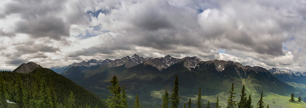 Banff Gandola Peaks_Pano