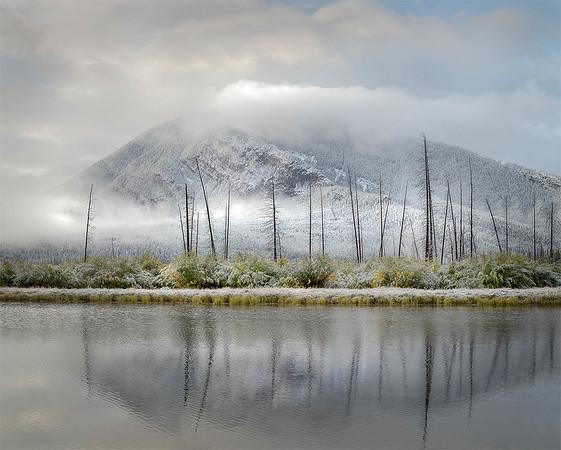 Snow-Dusted Mountains - Vermilion Lakes - Alberta