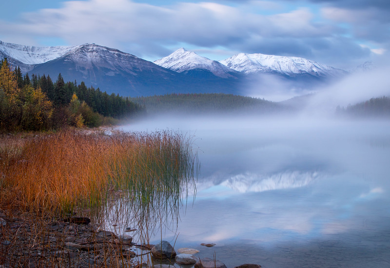 Fog Rising at Patricia Lake