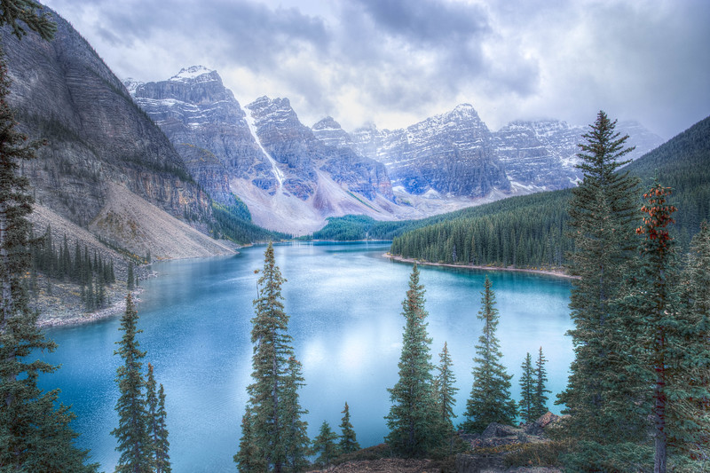 Heavy Clouds - Moraine Lake - Alberta, Canada