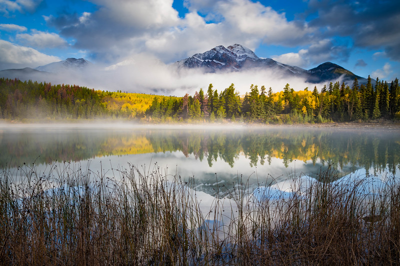 Clouds at Sunrise - Patricia Lake - Alberta, Canada